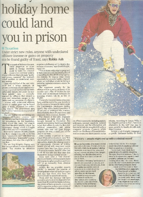 How your holiday home could land you in prison Times 10.10.15 Robin Ash 465x640