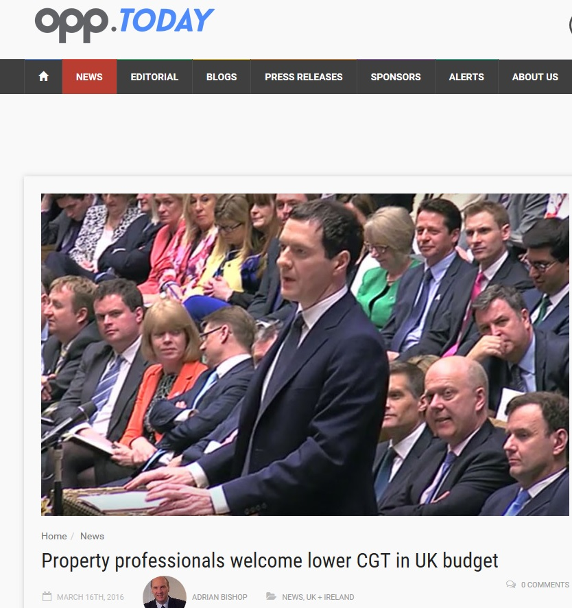 OPP.Today Budget 2016 buy-to-let-commercial property