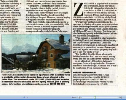 Sunday Express-ski article_Zakopane property