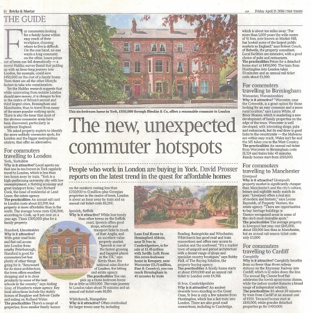 David Prosser-Commuter towns-The Times-Liverpool-Property Venture.15.4.16